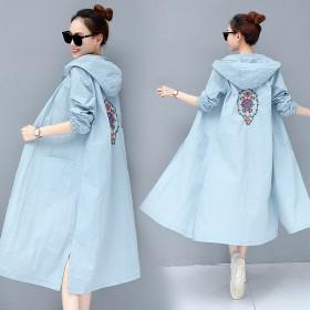 防晒衣女夏季新款韩版中长款防紫外线服时尚开衫外套