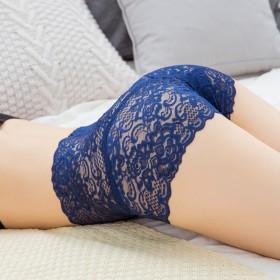 3条装高腰蕾丝内裤女无痕收腹大码透明性感纯棉裆多色