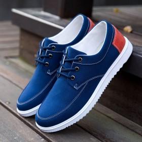 春季帆布鞋休闲鞋男老北京布鞋男鞋韩版运动板鞋工作鞋