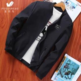 春秋夹克男薄款外套韩版修身青年休闲外衣棒球领
