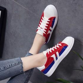 ins帆布鞋2019年新款女学生韩版百搭平底鞋单鞋