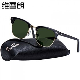 开车墨镜防紫外线半框太阳镜