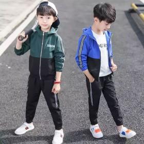男童套装春款中大儿童童装休闲韩版男孩运动两件套