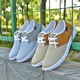新款网鞋男士运动休闲跑步鞋韩版百搭男鞋帆布板鞋布鞋