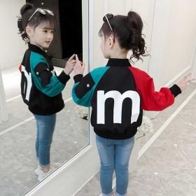 男女童外套春秋2018新款韩版洋气儿童装秋装夹克小