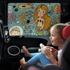 汽车玻璃遮阳挡磁性吸附防晒隔热车载遮光阳遮阳挡板