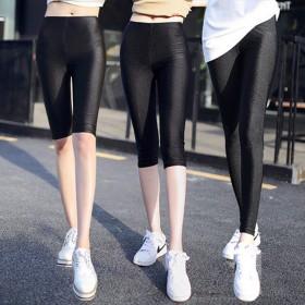 春夏薄款九分七分胖mm弹力修身显瘦外穿高腰打底裤
