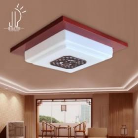 中式客厅卧室阳台实木吸顶灯15W