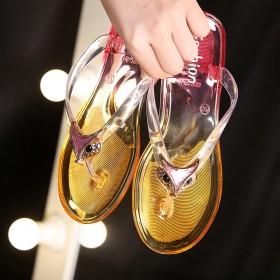 水晶人字拖鞋网红时尚凉拖鞋
