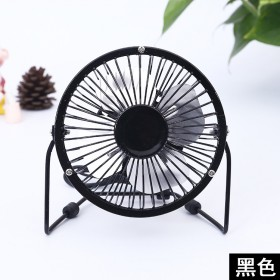 新款usb铁艺迷你小风扇 静音台式便携手持电风扇