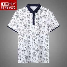品牌剪标夏季新款印花轻薄透气翻领休闲短袖POLO衫