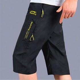 夏季薄款运动七分裤男士速干透气休闲短裤中裤宽松大码