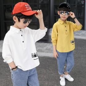 男童休闲套装春装儿童韩版套头衫牛仔裤两件套中大童装