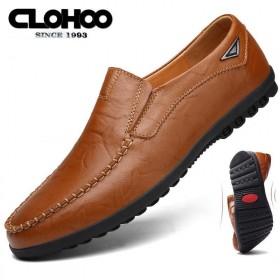 真皮男鞋软底男士商务休闲豆豆鞋夏季英伦时尚套脚皮鞋