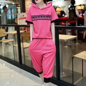 大尺寸胖mmT恤连衣裙两件套粉色显嫩大码女装