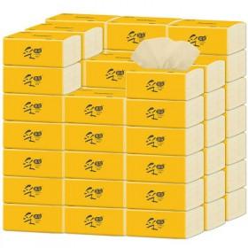 8包本色抽纸巾竹纤维面巾纸软抽整箱可湿水餐巾纸