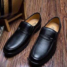 男皮鞋真皮夏季透气青年皮鞋英伦商务正装皮鞋增高鞋男