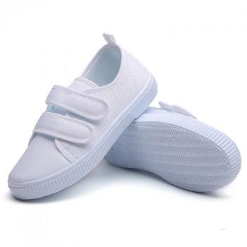 幼儿园小白鞋学生童鞋帆布鞋白球鞋儿童白布鞋