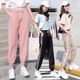 春夏季新款运动裤女学生韩版原宿bf风潮薄款宽松超火