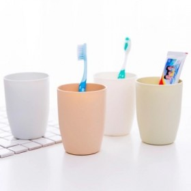 10个 素色环保塑料情侣刷牙杯洗漱杯子
