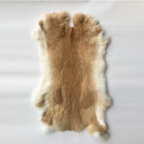 整张兔皮兔毛材料家兔皮整张皮草原料獭兔皮DIY护膝