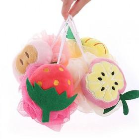 2个装水果沐浴球浴花大号柔软成人儿童搓澡用品起泡浴