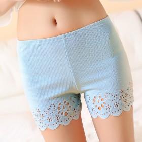 蓝色打底防走光安全裤女夏短裤外穿三分裤打底裤女裤子