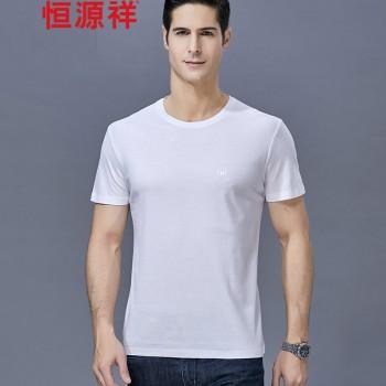 恒源祥桑蚕丝男士短袖T恤