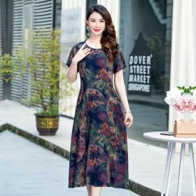 京东夏季棉质腰带连衣裙