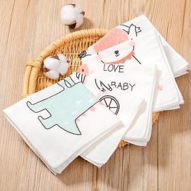 5条装婴儿口水巾超大柔软宝宝手帕方巾纯棉新生儿面巾
