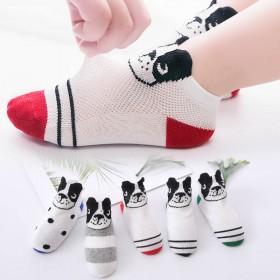 【五双装】儿童袜子春夏季网眼船袜短袜薄款男童女童宝