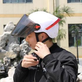 夏季头盔男女半盔挡风遮阳头盔电动车头盔电瓶车男女头