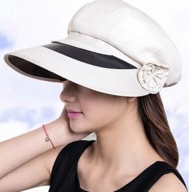 防晒帽子韩版夏天太阳帽女士遮阳帽大沿可折叠沙滩帽
