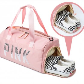 新款健身运动训练大容量手提单肩斜挎包旅行便携独立鞋