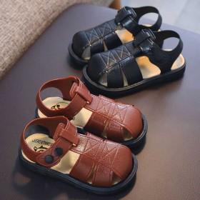 夏新款男童凉鞋1-6岁小男孩软底包头防滑宝宝小孩学