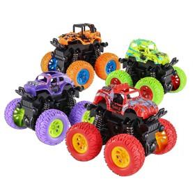四驱越野车儿童男孩模型车抗耐摔惯性回力玩具车