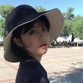双面大檐防晒帽子遮阳帽女韩版夏天渔夫帽可折叠太阳帽