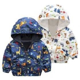 男女童外套春秋装新款中小童拉链衫儿童上衣长袖带帽