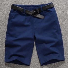纯棉男士休闲短裤男宽松韩版五分裤夏季沙滩裤男大码裤