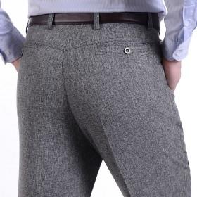春夏薄款中年男士休闲裤宽松直筒西裤中老年男裤爸爸裤