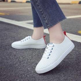 透气小白鞋女春夏新款韩版百搭网红鞋平底板鞋学生白鞋