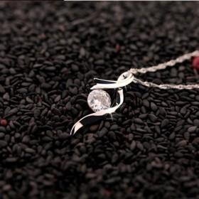镀925银锁骨链项链