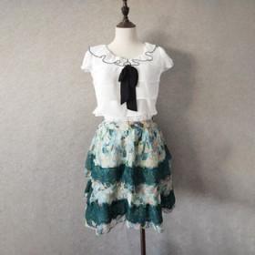 小个子福音~蛋糕裙雪纺蕾丝蓬蓬裙短裙子