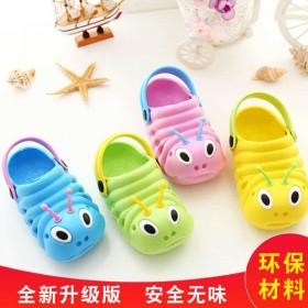 毛毛虫儿童凉拖鞋女童男童包头洞洞鞋宝宝可爱防滑沙滩