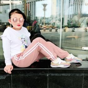 女童裤子春秋季儿童运动裤男童学生长裤抖音新款儿童宽