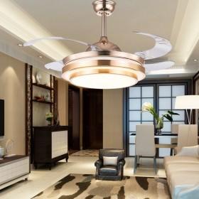 36寸节能隐形风扇灯吊扇灯带灯LED时尚简约餐厅灯