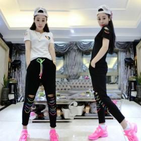 短袖T恤衫休闲裤子两件套女生2019新款夏季韩版