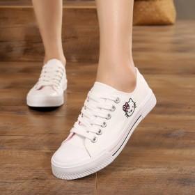 平底学生帆布鞋女小白鞋低帮女鞋子