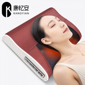 康忆安颈椎按摩枕头颈肩腰背揉捏按摩器办公家用靠垫电