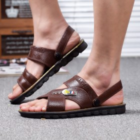 2019新款夏季男士透气鞋防滑凉鞋时尚